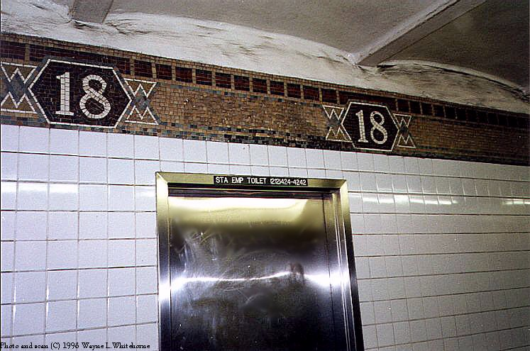 (94k, 747x495)<br><b>Country:</b> United States<br><b>City:</b> New York<br><b>System:</b> New York City Transit<br><b>Line:</b> IRT West Side Line<br><b>Location:</b> 18th Street<br><b>Photo by:</b> Wayne Whitehorne<br><b>Date:</b> 1998<br><b>Viewed (this week/total):</b> 1 / 4379