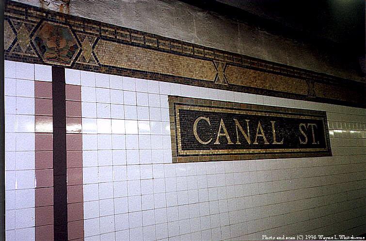 (96k, 755x497)<br><b>Country:</b> United States<br><b>City:</b> New York<br><b>System:</b> New York City Transit<br><b>Line:</b> IRT West Side Line<br><b>Location:</b> Canal Street<br><b>Photo by:</b> Wayne Whitehorne<br><b>Date:</b> 1998<br><b>Viewed (this week/total):</b> 4 / 4465