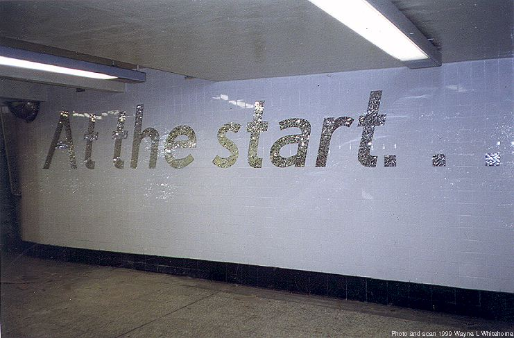 (75k, 741x487)<br><b>Country:</b> United States<br><b>City:</b> New York<br><b>System:</b> New York City Transit<br><b>Line:</b> IND 8th Avenue Line<br><b>Location:</b> 207th Street<br><b>Photo by:</b> Wayne Whitehorne<br><b>Date:</b> 5/15/1999<br><b>Artwork:</b> <i>At the Start... At Long Last</i>, Sheila Levrant de Bretteville, 1999<br><b>Viewed (this week/total):</b> 1 / 6240