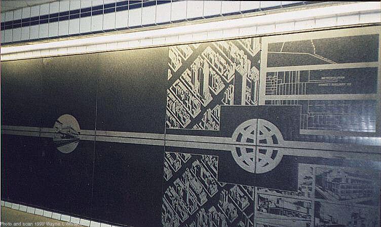 (74k, 752x449)<br><b>Country:</b> United States<br><b>City:</b> New York<br><b>System:</b> New York City Transit<br><b>Line:</b> IND Queens Boulevard Line<br><b>Location:</b> 50th Street<br><b>Photo by:</b> Wayne Whitehorne<br><b>Date:</b> 1/31/1998<br><b>Artwork:</b> <i>Untitled</i>, Matt Mullican, 1989<br><b>Notes:</b> Station artwork<br><b>Viewed (this week/total):</b> 3 / 4960