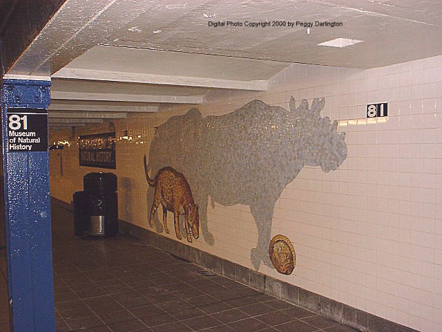 (71k, 640x480)<br><b>Country:</b> United States<br><b>City:</b> New York<br><b>System:</b> New York City Transit<br><b>Line:</b> IND 8th Avenue Line<br><b>Location:</b> 81st Street/Museum of Natural History<br><b>Photo by:</b> Peggy Darlington<br><b>Date:</b> 2000<br><b>Artwork:</b> <i>For Want of a Nail</i>, MTA Arts For Transit Collaborative, 1999<br><b>Viewed (this week/total):</b> 0 / 10193