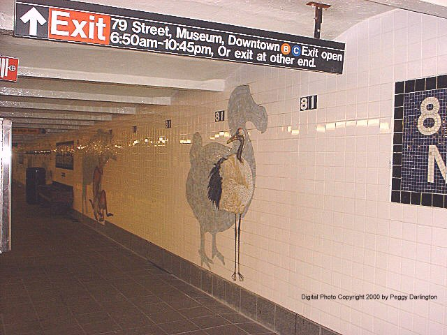 (78k, 640x480)<br><b>Country:</b> United States<br><b>City:</b> New York<br><b>System:</b> New York City Transit<br><b>Line:</b> IND 8th Avenue Line<br><b>Location:</b> 81st Street/Museum of Natural History<br><b>Photo by:</b> Peggy Darlington<br><b>Date:</b> 2000<br><b>Artwork:</b> <i>For Want of a Nail</i>, MTA Arts For Transit Collaborative, 1999<br><b>Viewed (this week/total):</b> 0 / 10164