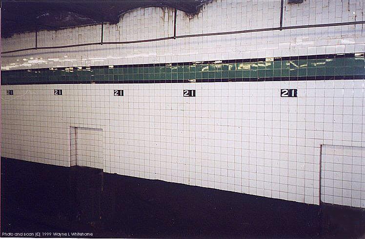 (79k, 748x489)<br><b>Country:</b> United States<br><b>City:</b> New York<br><b>System:</b> New York City Transit<br><b>Line:</b> IND Crosstown Line<br><b>Location:</b> 21st Street/Van Alst<br><b>Photo by:</b> Wayne Whitehorne<br><b>Date:</b> 1/28/1999<br><b>Notes:</b> Wall tile<br><b>Viewed (this week/total):</b> 2 / 4463