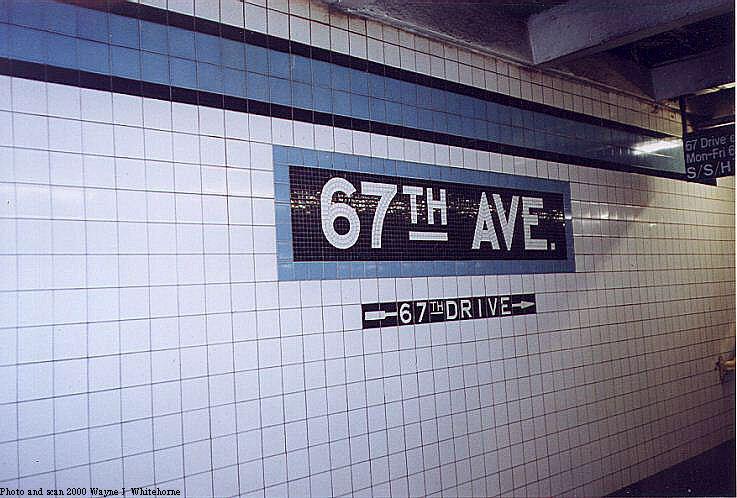 (76k, 737x498)<br><b>Country:</b> United States<br><b>City:</b> New York<br><b>System:</b> New York City Transit<br><b>Line:</b> IND Queens Boulevard Line<br><b>Location:</b> 67th Avenue<br><b>Photo by:</b> Wayne Whitehorne<br><b>Date:</b> 1/8/2000<br><b>Notes:</b> Tablet<br><b>Viewed (this week/total):</b> 1 / 3906