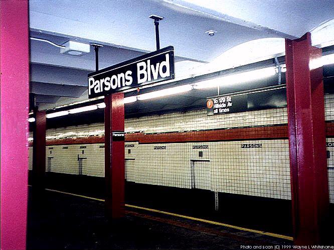 (83k, 666x498)<br><b>Country:</b> United States<br><b>City:</b> New York<br><b>System:</b> New York City Transit<br><b>Line:</b> IND Queens Boulevard Line<br><b>Location:</b> Parsons Boulevard<br><b>Photo by:</b> Wayne Whitehorne<br><b>Date:</b> 1/9/1999<br><b>Viewed (this week/total):</b> 0 / 5776