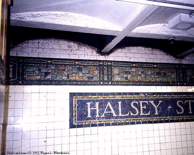 (91k, 672x539)<br><b>Country:</b> United States<br><b>City:</b> New York<br><b>System:</b> New York City Transit<br><b>Line:</b> BMT Canarsie Line<br><b>Location:</b> Halsey Street<br><b>Photo by:</b> Wayne Whitehorne<br><b>Date:</b> 9/14/1997<br><b>Viewed (this week/total):</b> 0 / 3595