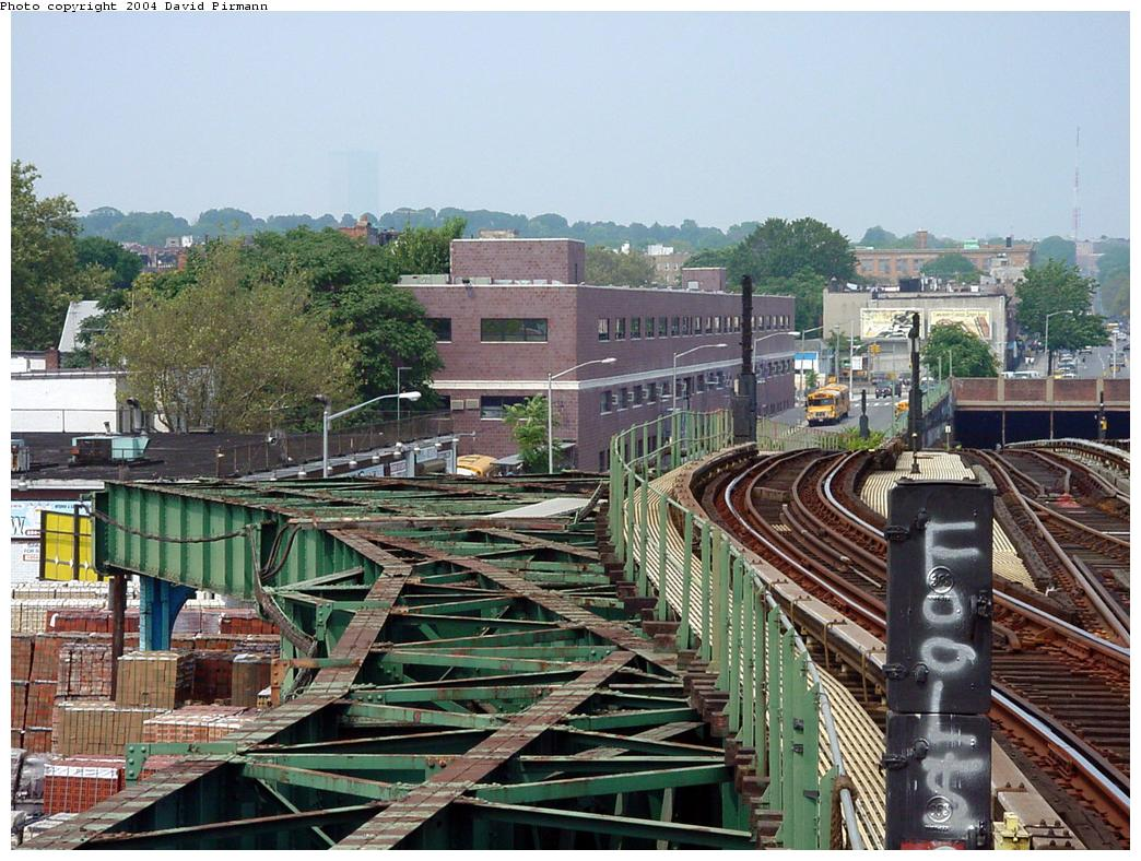 (169k, 1044x788)<br><b>Country:</b> United States<br><b>City:</b> New York<br><b>System:</b> New York City Transit<br><b>Line:</b> BMT Culver Line<br><b>Location:</b> Ditmas Avenue-Shuttle<br><b>Route:</b> F<br><b>Photo by:</b> David Pirmann<br><b>Date:</b> 8/27/2000<br><b>Notes:</b> Former track connection to the Culver Shuttle<br><b>Viewed (this week/total):</b> 0 / 6787