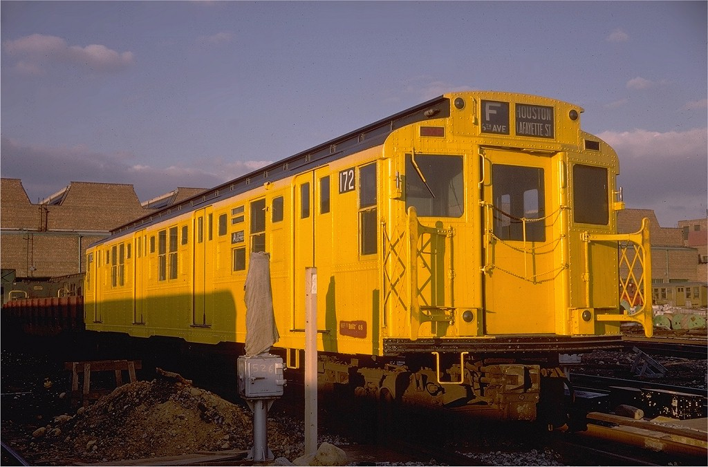 (196k, 1024x676)<br><b>Country:</b> United States<br><b>City:</b> New York<br><b>System:</b> New York City Transit<br><b>Location:</b> Coney Island Yard<br><b>Car:</b> R-1 (American Car & Foundry, 1930-1931) 172 <br><b>Photo by:</b> Doug Grotjahn<br><b>Collection of:</b> Joe Testagrose<br><b>Date:</b> 1/12/1969<br><b>Viewed (this week/total):</b> 7 / 8861