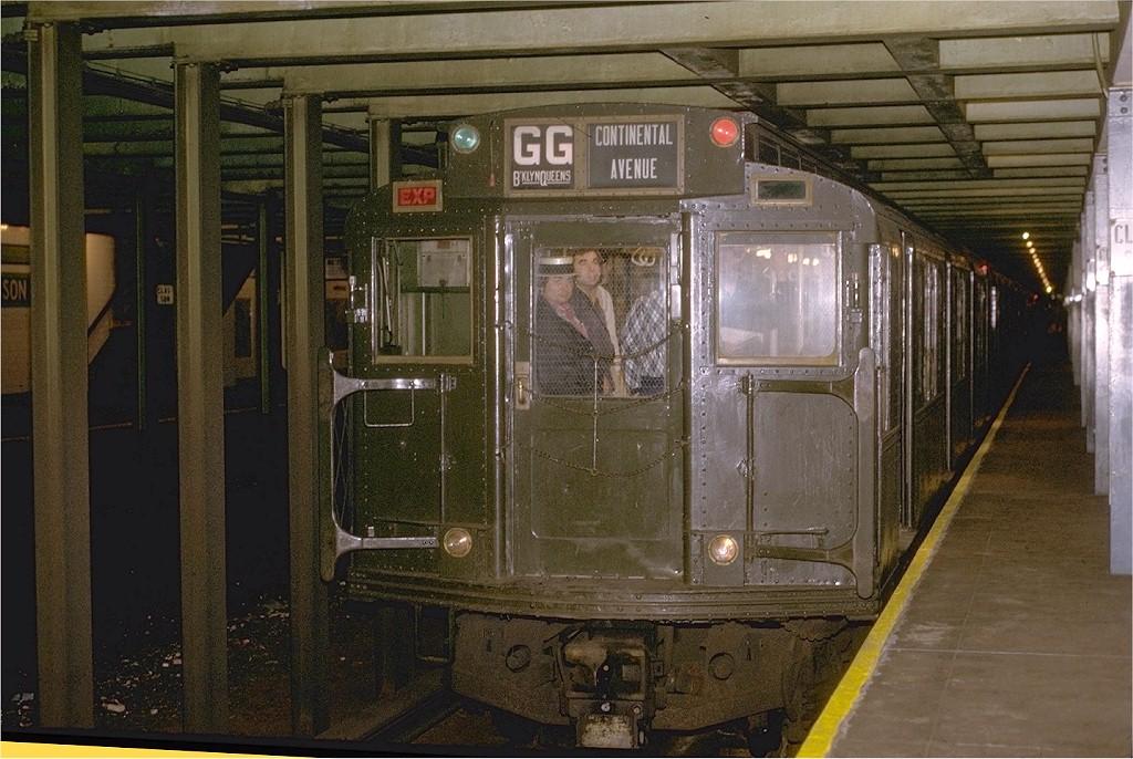 (217k, 1024x686)<br><b>Country:</b> United States<br><b>City:</b> New York<br><b>System:</b> New York City Transit<br><b>Line:</b> IND Crosstown Line<br><b>Location:</b> Classon Avenue<br><b>Route:</b> Fan Trip<br><b>Car:</b> R-4 (American Car & Foundry, 1932-1933) 484 <br><b>Photo by:</b> Joe Testagrose<br><b>Date:</b> 5/5/1974<br><b>Viewed (this week/total):</b> 8 / 7282
