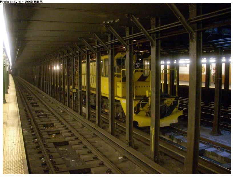 (178k, 820x620)<br><b>Country:</b> United States<br><b>City:</b> New York<br><b>System:</b> New York City Transit<br><b>Line:</b> IRT West Side Line<br><b>Location:</b> 66th Street/Lincoln Center<br><b>Route:</b> Work Service<br><b>Car:</b> R-37 Locomotive 52 <br><b>Photo by:</b> Bill E.<br><b>Date:</b> 4/25/2009<br><b>Viewed (this week/total):</b> 3 / 2642