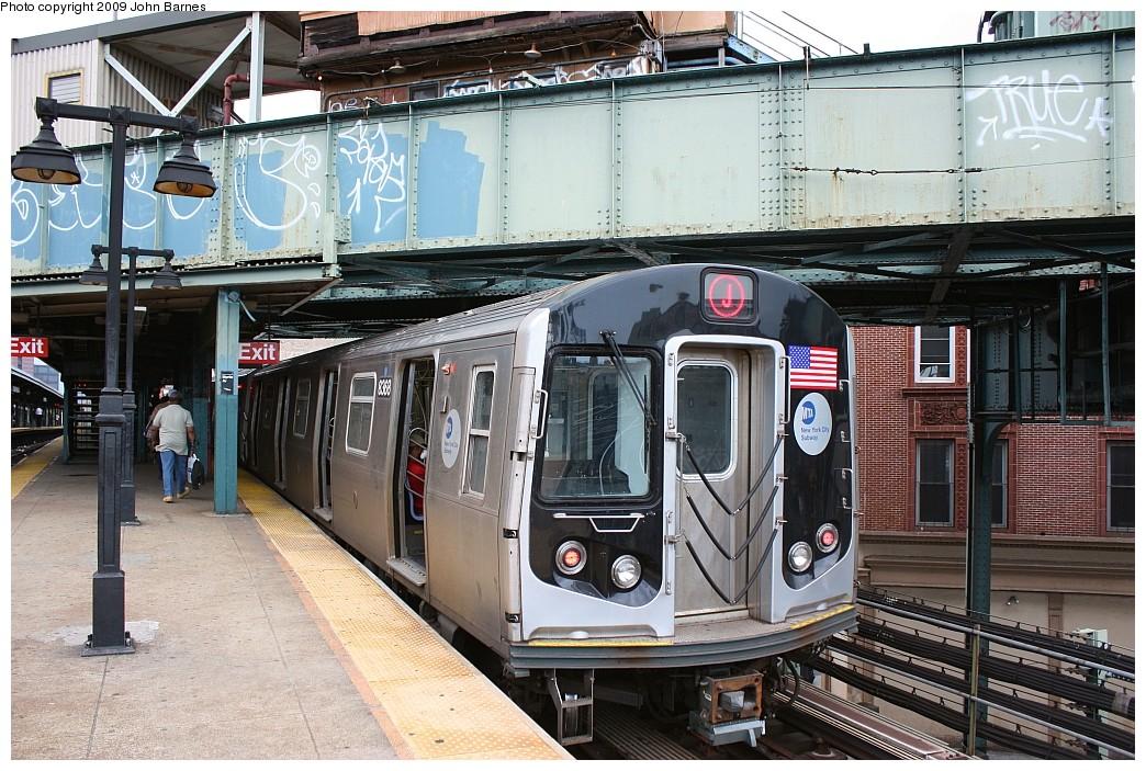(270k, 1044x703)<br><b>Country:</b> United States<br><b>City:</b> New York<br><b>System:</b> New York City Transit<br><b>Line:</b> BMT Nassau Street-Jamaica Line<br><b>Location:</b> Myrtle Avenue<br><b>Route:</b> J<br><b>Car:</b> R-160A-1 (Alstom, 2005-2008, 4 car sets) 8368 <br><b>Photo by:</b> John Barnes<br><b>Date:</b> 6/15/2009<br><b>Viewed (this week/total):</b> 1 / 1806