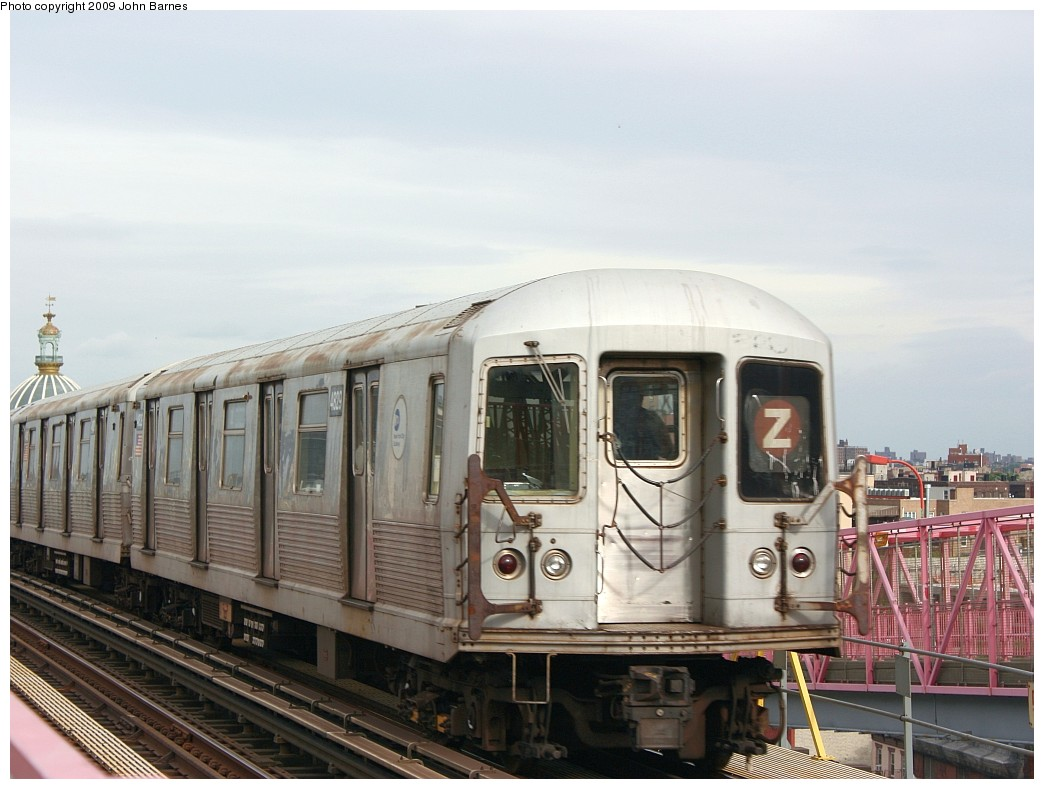 (183k, 1044x789)<br><b>Country:</b> United States<br><b>City:</b> New York<br><b>System:</b> New York City Transit<br><b>Line:</b> BMT Nassau Street-Jamaica Line<br><b>Location:</b> Williamsburg Bridge<br><b>Route:</b> Z<br><b>Car:</b> R-42 (St. Louis, 1969-1970) 4829 <br><b>Photo by:</b> John Barnes<br><b>Date:</b> 6/22/2009<br><b>Viewed (this week/total):</b> 1 / 1473