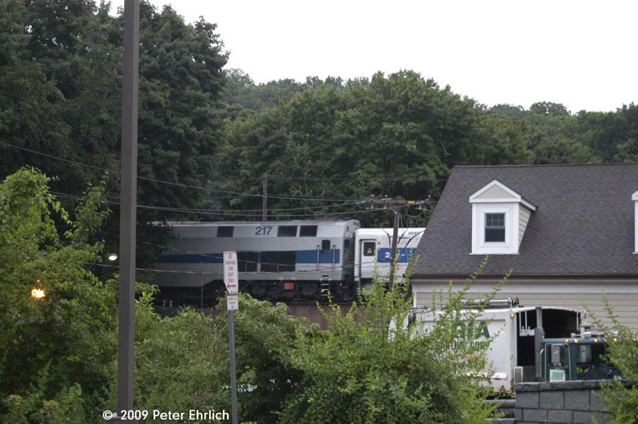 (222k, 930x618)<br><b>Country:</b> United States<br><b>System:</b> Metro-North Railroad (or Amtrak or Predecessor RR)<br><b>Line:</b> Metro North-Harlem Line<br><b>Location:</b> Croton Falls<br><b>Car:</b> MNRR GE Genesis P-32AC-DM 217 <br><b>Photo by:</b> Peter Ehrlich<br><b>Date:</b> 7/22/2009<br><b>Notes:</b> Inbound<br><b>Viewed (this week/total):</b> 0 / 537