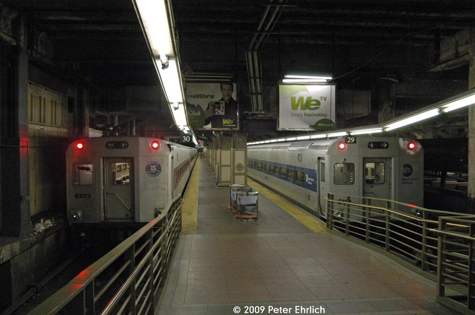 (200k, 930x618)<br><b>Country:</b> United States<br><b>City:</b> New York<br><b>System:</b> Metro-North Railroad (or Amtrak or Predecessor RR)<br><b>Line:</b> Metro-North Grand Central/Park Avenue Tunnel<br><b>Location:</b> Grand Central Terminal<br><b>Car:</b> MNRR/CDOT Shoreliner (Bombardier) 6205 <br><b>Photo by:</b> Peter Ehrlich<br><b>Date:</b> 7/22/2009<br><b>Notes:</b> Push-pull cab cars 6205 (left) and 6119.<br><b>Viewed (this week/total):</b> 0 / 1110