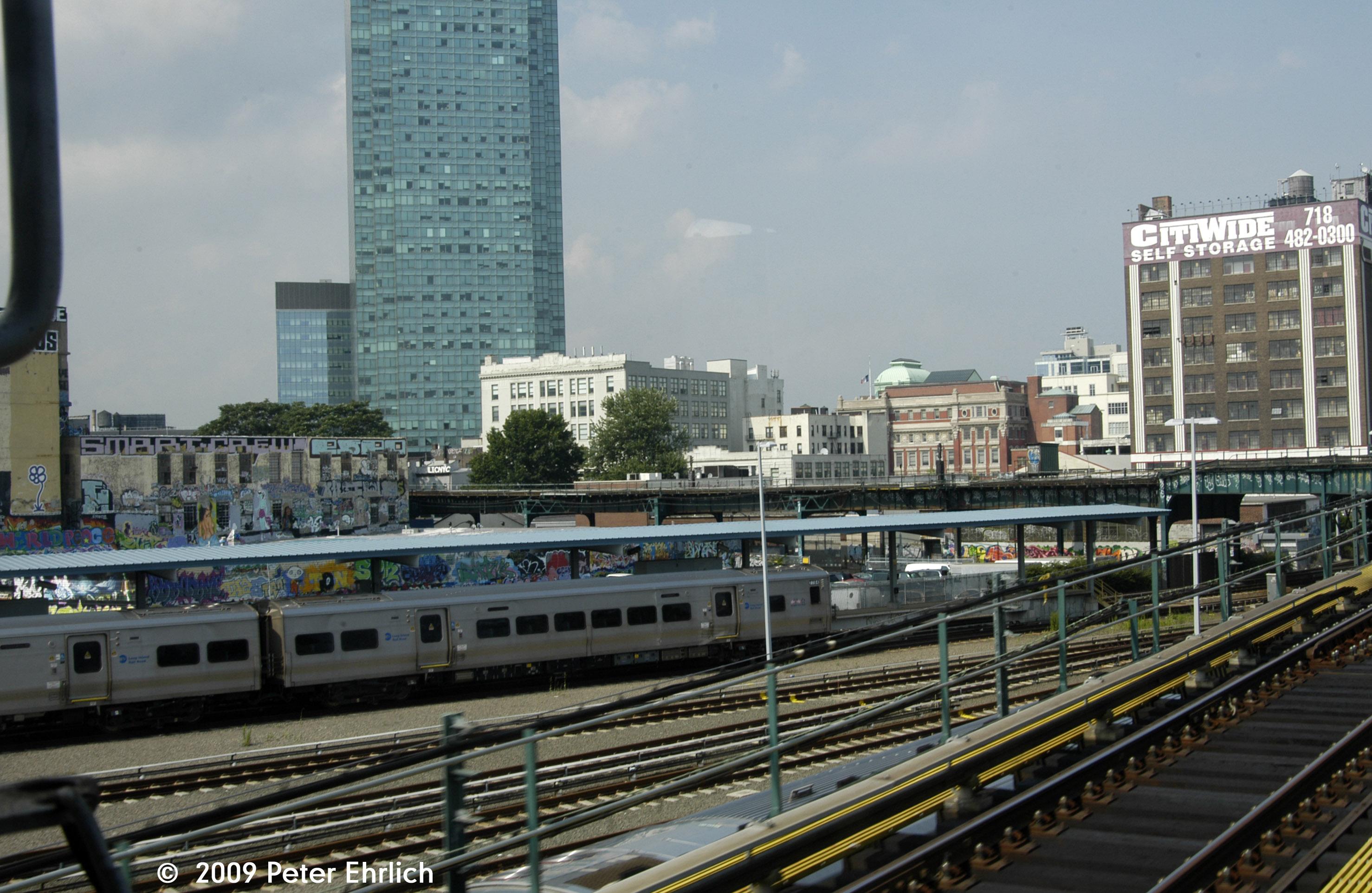 (958k, 2956x1923)<br><b>Country:</b> United States<br><b>City:</b> New York<br><b>System:</b> Long Island Rail Road<br><b>Line:</b> LIRR Main Line<br><b>Location:</b> Hunterspoint Avenue<br><b>Car:</b> LIRR M-7 EMU (Bombardier) 7254 <br><b>Photo by:</b> Peter Ehrlich<br><b>Date:</b> 7/22/2009<br><b>Viewed (this week/total):</b> 1 / 848