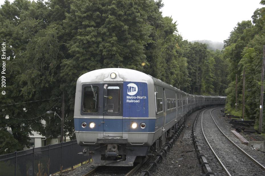 (219k, 930x618)<br><b>Country:</b> United States<br><b>System:</b> Metro-North Railroad (or Amtrak or Predecessor RR)<br><b>Line:</b> Metro North-Harlem Line<br><b>Location:</b> Croton Falls<br><b>Car:</b> MNRR M-3a EMU (Budd) 8117 <br><b>Photo by:</b> Peter Ehrlich<br><b>Date:</b> 7/22/2009<br><b>Notes:</b> Inbound<br><b>Viewed (this week/total):</b> 0 / 993