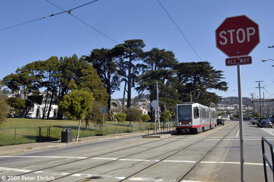 (244k, 930x618)<br><b>Country:</b> United States<br><b>City:</b> San Francisco/Bay Area, CA<br><b>System:</b> SF MUNI<br><b>Line:</b> MUNI Metro (J-Church)<br><b>Location:</b> San Jose/Santa Ynez<br><b>Car:</b> SF MUNI Breda LRV 1479 <br><b>Photo by:</b> Peter Ehrlich<br><b>Date:</b> 8/29/2009<br><b>Notes:</b> Outbound.<br><b>Viewed (this week/total):</b> 1 / 422