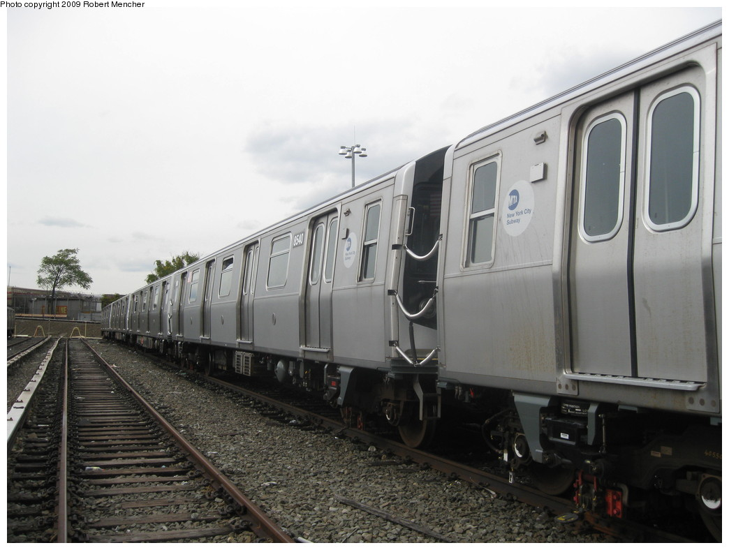 (182k, 1044x788)<br><b>Country:</b> United States<br><b>City:</b> New York<br><b>System:</b> New York City Transit<br><b>Location:</b> East New York Yard/Shops<br><b>Car:</b> R-160A-1 (Alstom, 2005-2008, 4 car sets) 8540 <br><b>Photo by:</b> Robert Mencher<br><b>Date:</b> 10/14/2009<br><b>Viewed (this week/total):</b> 5 / 951