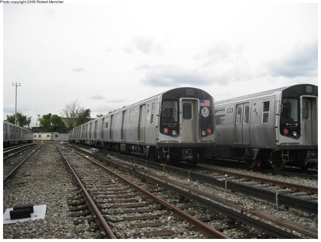 (203k, 1044x788)<br><b>Country:</b> United States<br><b>City:</b> New York<br><b>System:</b> New York City Transit<br><b>Location:</b> East New York Yard/Shops<br><b>Car:</b> R-160A-1 (Alstom, 2005-2008, 4 car sets) 8356 <br><b>Photo by:</b> Robert Mencher<br><b>Date:</b> 10/14/2009<br><b>Viewed (this week/total):</b> 6 / 875