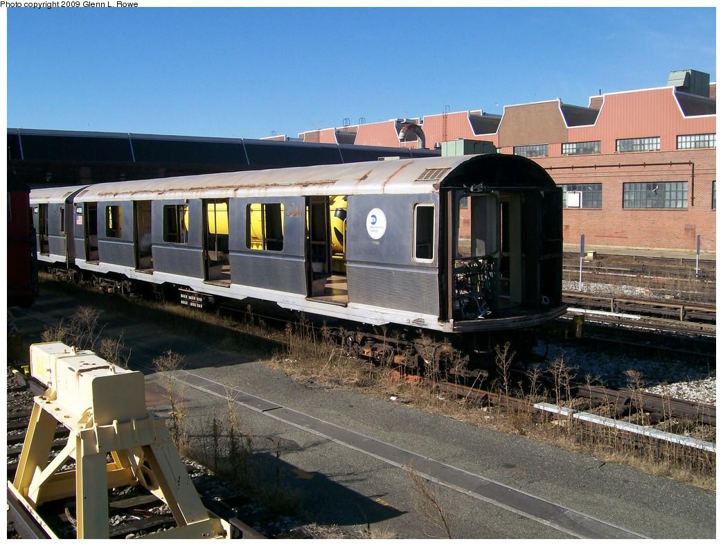 (259k, 1044x788)<br><b>Country:</b> United States<br><b>City:</b> New York<br><b>System:</b> New York City Transit<br><b>Location:</b> 207th Street Yard<br><b>Car:</b> R-40M (St. Louis, 1969) 4496 <br><b>Photo by:</b> Glenn L. Rowe<br><b>Date:</b> 10/14/2009<br><b>Notes:</b> Scrap<br><b>Viewed (this week/total):</b> 5 / 1301