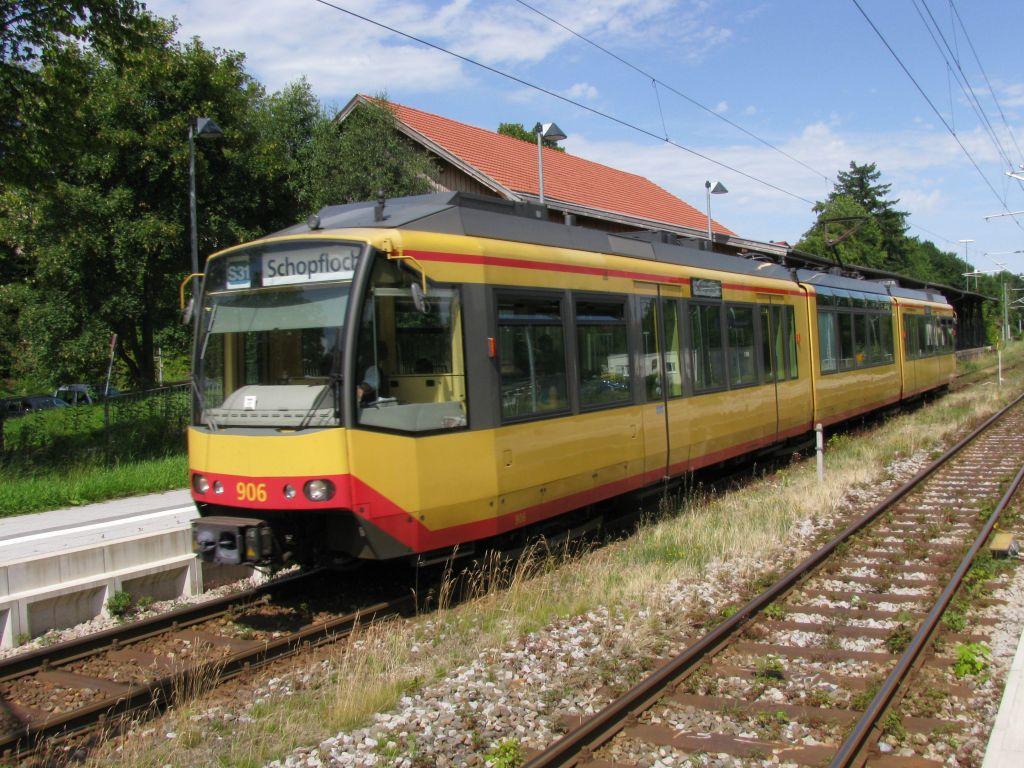 (178k, 1024x768)<br><b>Country:</b> Germany<br><b>City:</b> Karlsruhe<br><b>System:</b> AVG (Albtal Verkehrsgesellschaft)<br><b>Location:</b> Freudenstadt Hbf<br><b>Route:</b> S31<br><b>Car:</b> GT8-100D/2S-M 906  <br><b>Photo by:</b> Jos Straathof<br><b>Date:</b> 7/22/2009<br><b>Viewed (this week/total):</b> 0 / 404