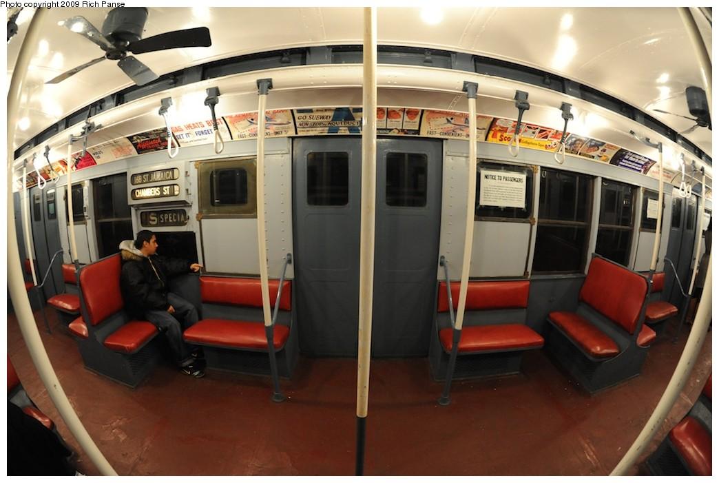 (168k, 1044x701)<br><b>Country:</b> United States<br><b>City:</b> New York<br><b>System:</b> New York City Transit<br><b>Route:</b> Museum Train Service (V)<br><b>Car:</b> R-9 (Pressed Steel, 1940) 1802 <br><b>Photo by:</b> Richard Panse<br><b>Date:</b> 12/13/2009<br><b>Viewed (this week/total):</b> 7 / 4841