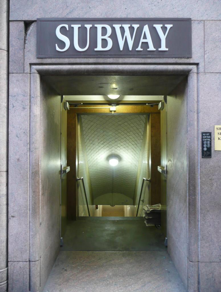 (107k, 776x1024)<br><b>Country:</b> United States<br><b>City:</b> New York<br><b>System:</b> New York City Transit<br><b>Line:</b> IRT East Side Line<br><b>Location:</b> Grand Central<br><b>Photo by:</b> Robbie Rosenfeld<br><b>Date:</b> 12/8/2009<br><b>Notes:</b> Entrance at 42nd & Lex<br><b>Viewed (this week/total):</b> 1 / 1288