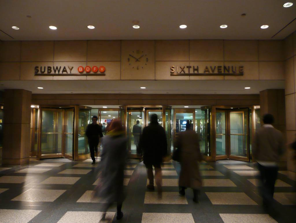 (69k, 1024x772)<br><b>Country:</b> United States<br><b>City:</b> New York<br><b>System:</b> New York City Transit<br><b>Line:</b> IND 6th Avenue Line<br><b>Location:</b> 47-50th Street/Rockefeller Center<br><b>Photo by:</b> Robbie Rosenfeld<br><b>Date:</b> 12/10/2009<br><b>Notes:</b> Entrance from Rockefeller Center concourse<br><b>Viewed (this week/total):</b> 1 / 2711