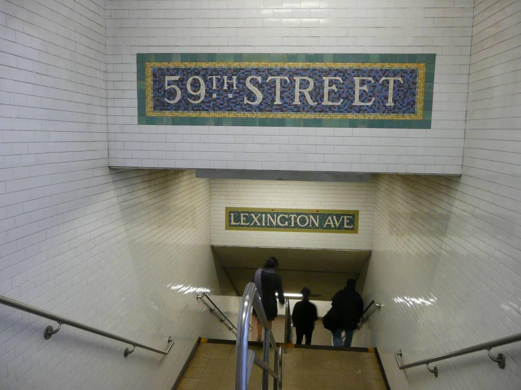 (109k, 1024x768)<br><b>Country:</b> United States<br><b>City:</b> New York<br><b>System:</b> New York City Transit<br><b>Line:</b> IRT East Side Line<br><b>Location:</b> 59th Street<br><b>Photo by:</b> Robbie Rosenfeld<br><b>Date:</b> 12/8/2009<br><b>Notes:</b> Mosaics in stairway.<br><b>Viewed (this week/total):</b> 1 / 2012