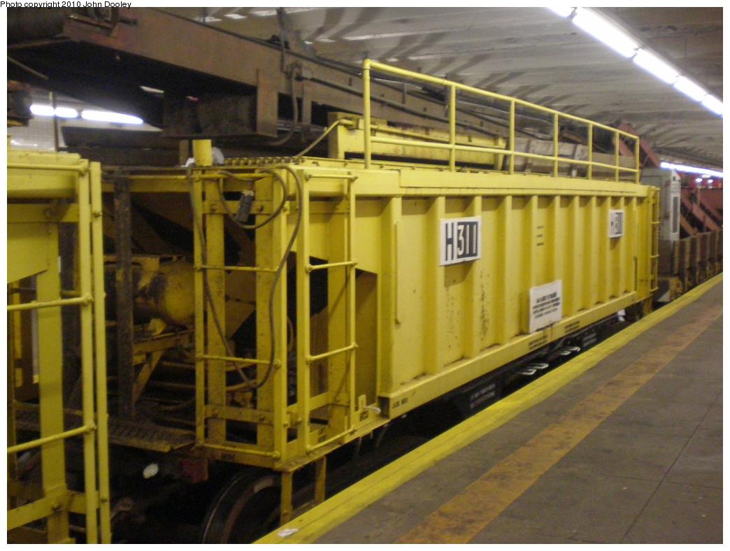 (229k, 1044x788)<br><b>Country:</b> United States<br><b>City:</b> New York<br><b>System:</b> New York City Transit<br><b>Line:</b> IND Crosstown Line<br><b>Location:</b> Bedford/Nostrand Aves.<br><b>Route:</b> Work Service<br><b>Car:</b> R-116 MoW Hopper 311 <br><b>Photo by:</b> John Dooley<br><b>Date:</b> 1/16/2010<br><b>Viewed (this week/total):</b> 1 / 1646