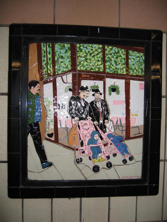 (75k, 562x750)<br><b>Country:</b> United States<br><b>City:</b> New York<br><b>System:</b> New York City Transit<br><b>Line:</b> IRT West Side Line<br><b>Location:</b> 86th Street<br><b>Photo by:</b> Robbie Rosenfeld<br><b>Date:</b> 1/19/2005<br><b>Artwork:</b> <i>Westside Views</i>, Nitza Tufino, 1989<br><b>Viewed (this week/total):</b> 2 / 3093