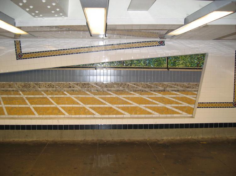 (65k, 750x562)<br><b>Country:</b> United States<br><b>City:</b> New York<br><b>System:</b> New York City Transit<br><b>Line:</b> IND Concourse Line<br><b>Location:</b> 161st Street-River Avenue (Yankee Stadium)<br><b>Photo by:</b> Robbie Rosenfeld<br><b>Date:</b> 3/1/2005<br><b>Artwork:</b> <i>Wall-Slide/Room of Tranquility</i>, Acconci/Brandt, 2002<br><b>Viewed (this week/total):</b> 1 / 4922