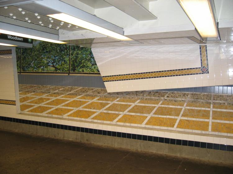 (66k, 750x562)<br><b>Country:</b> United States<br><b>City:</b> New York<br><b>System:</b> New York City Transit<br><b>Line:</b> IND Concourse Line<br><b>Location:</b> 161st Street-River Avenue (Yankee Stadium)<br><b>Photo by:</b> Robbie Rosenfeld<br><b>Date:</b> 3/1/2005<br><b>Artwork:</b> <i>Wall-Slide/Room of Tranquility</i>, Acconci/Brandt, 2002<br><b>Viewed (this week/total):</b> 0 / 4665
