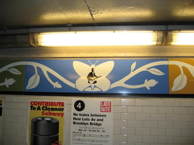 (60k, 750x562)<br><b>Country:</b> United States<br><b>City:</b> New York<br><b>System:</b> New York City Transit<br><b>Line:</b> IRT Brooklyn Line<br><b>Location:</b> Nevins Street<br><b>Photo by:</b> Robbie Rosenfeld<br><b>Date:</b> 3/21/2005<br><b>Artwork:</b> <i>Work & Nature</i>, Anton van Dalen, 1997<br><b>Viewed (this week/total):</b> 0 / 5446