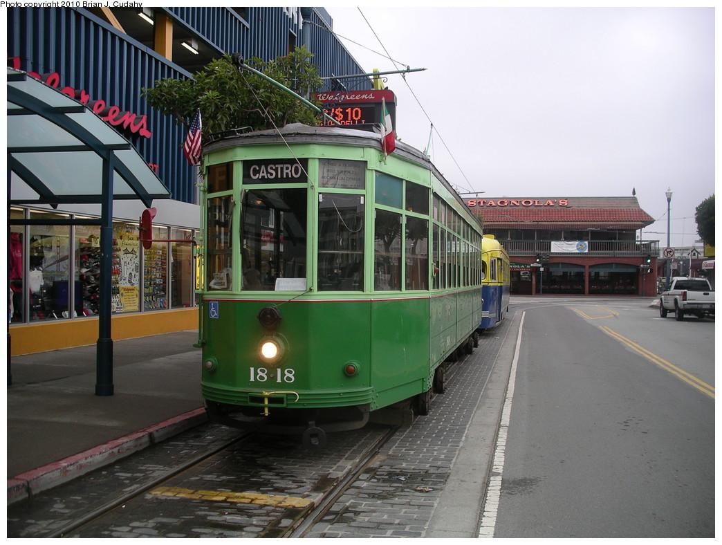 (270k, 1044x788)<br><b>Country:</b> United States<br><b>City:</b> San Francisco/Bay Area, CA<br><b>System:</b> SF MUNI<br><b>Location:</b> Jones/Beach<br><b>Route:</b> F<br><b>Car:</b> Milan Milano/Peter Witt (1927-1930) 1818 <br><b>Photo by:</b> Brian J. Cudahy<br><b>Date:</b> 6/11/2008<br><b>Viewed (this week/total):</b> 0 / 472