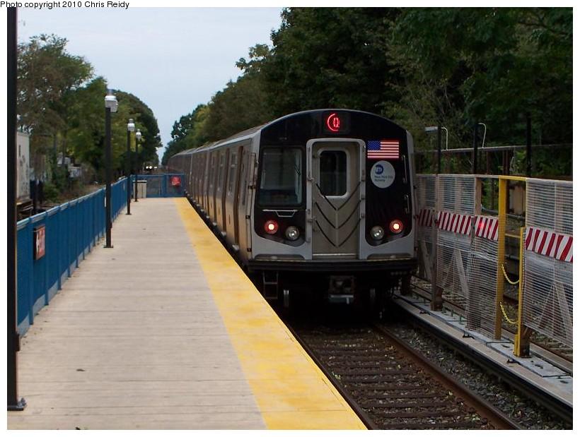 (150k, 820x619)<br><b>Country:</b> United States<br><b>City:</b> New York<br><b>System:</b> New York City Transit<br><b>Line:</b> BMT Brighton Line<br><b>Location:</b> Avenue J<br><b>Route:</b> Q<br><b>Car:</b> R-160B (Option 1) (Kawasaki, 2008-2009) 9108 <br><b>Photo by:</b> Chris Reidy<br><b>Date:</b> 10/12/2009<br><b>Viewed (this week/total):</b> 0 / 1407