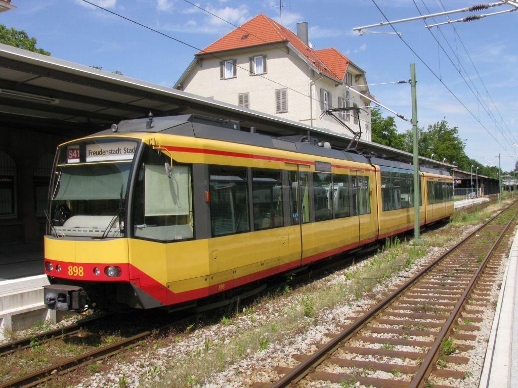(162k, 1024x768)<br><b>Country:</b> Germany<br><b>City:</b> Karlsruhe<br><b>System:</b> AVG (Albtal Verkehrsgesellschaft)<br><b>Location:</b> Freudenstadt Hbf<br><b>Route:</b> S41<br><b>Car:</b> GT8-100D/2S-M 898  <br><b>Photo by:</b> Jos Straathof<br><b>Date:</b> 7/22/2009<br><b>Viewed (this week/total):</b> 0 / 383