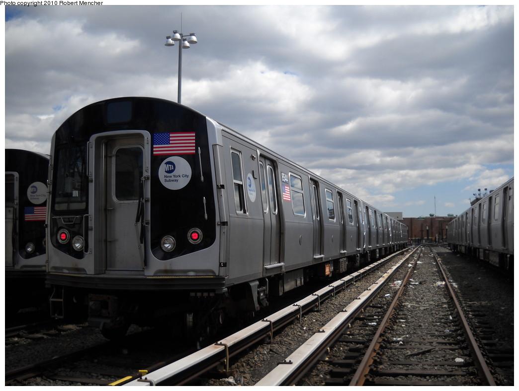 (208k, 1044x788)<br><b>Country:</b> United States<br><b>City:</b> New York<br><b>System:</b> New York City Transit<br><b>Location:</b> East New York Yard/Shops<br><b>Car:</b> R-160A-1 (Alstom, 2005-2008, 4 car sets) 8544 <br><b>Photo by:</b> Robert Mencher<br><b>Date:</b> 4/18/2010<br><b>Viewed (this week/total):</b> 0 / 761