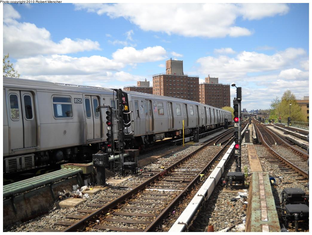 (294k, 1044x788)<br><b>Country:</b> United States<br><b>City:</b> New York<br><b>System:</b> New York City Transit<br><b>Line:</b> BMT Nassau Street-Jamaica Line<br><b>Location:</b> Broadway/East New York (Broadway Junction)<br><b>Route:</b> J<br><b>Car:</b> R-160A-1 (Alstom, 2005-2008, 4 car sets) 8437 <br><b>Photo by:</b> Robert Mencher<br><b>Date:</b> 4/18/2010<br><b>Viewed (this week/total):</b> 1 / 1321