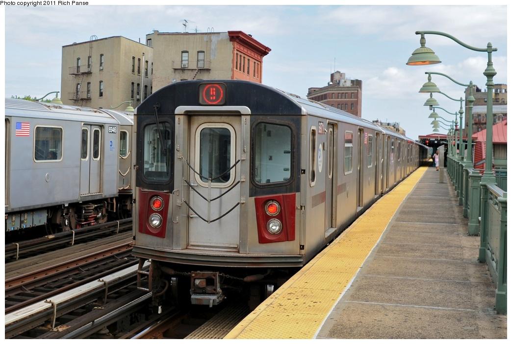 (265k, 1044x703)<br><b>Country:</b> United States<br><b>City:</b> New York<br><b>System:</b> New York City Transit<br><b>Line:</b> IRT White Plains Road Line<br><b>Location:</b> Simpson Street<br><b>Route:</b> 5<br><b>Car:</b> R-142 (Primary Order, Bombardier, 1999-2002) 6971 <br><b>Photo by:</b> Richard Panse<br><b>Date:</b> 9/11/2011<br><b>Viewed (this week/total):</b> 1 / 1693