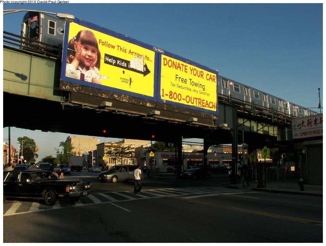 (255k, 1044x788)<br><b>Country:</b> United States<br><b>City:</b> New York<br><b>System:</b> New York City Transit<br><b>Line:</b> BMT West End Line<br><b>Location:</b> 62nd Street<br><b>Route:</b> M<br><b>Car:</b> R-160A-1 (Alstom, 2005-2008, 4 car sets)  <br><b>Photo by:</b> David-Paul Gerber<br><b>Date:</b> 6/11/2010<br><b>Notes:</b> On New Utrecht Ave at 65th Street.<br><b>Viewed (this week/total):</b> 4 / 1554