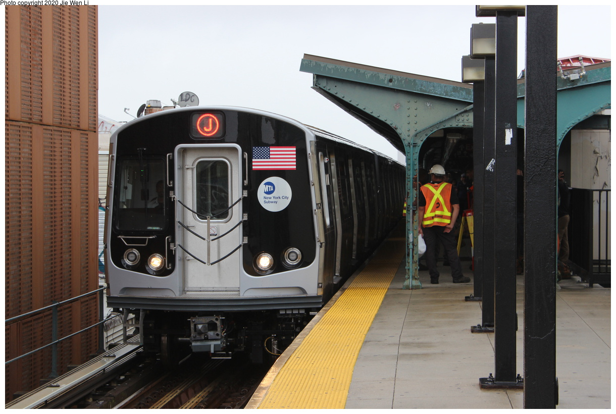 (357k, 1220x820)<br><b>Country:</b> United States<br><b>City:</b> New York<br><b>System:</b> New York City Transit<br><b>Line:</b> BMT Myrtle Avenue Line<br><b>Location:</b> Wyckoff Avenue<br><b>Route:</b> J<br><b>Car:</b> R-179 (Bombardier, 2016-2019) 3102 <br><b>Photo by:</b> Jie Wen Li<br><b>Date:</b> 7/22/2018<br><b>Notes:</b> J to Metropolitan Ave. G.O.<br><b>Viewed (this week/total):</b> 8 / 495