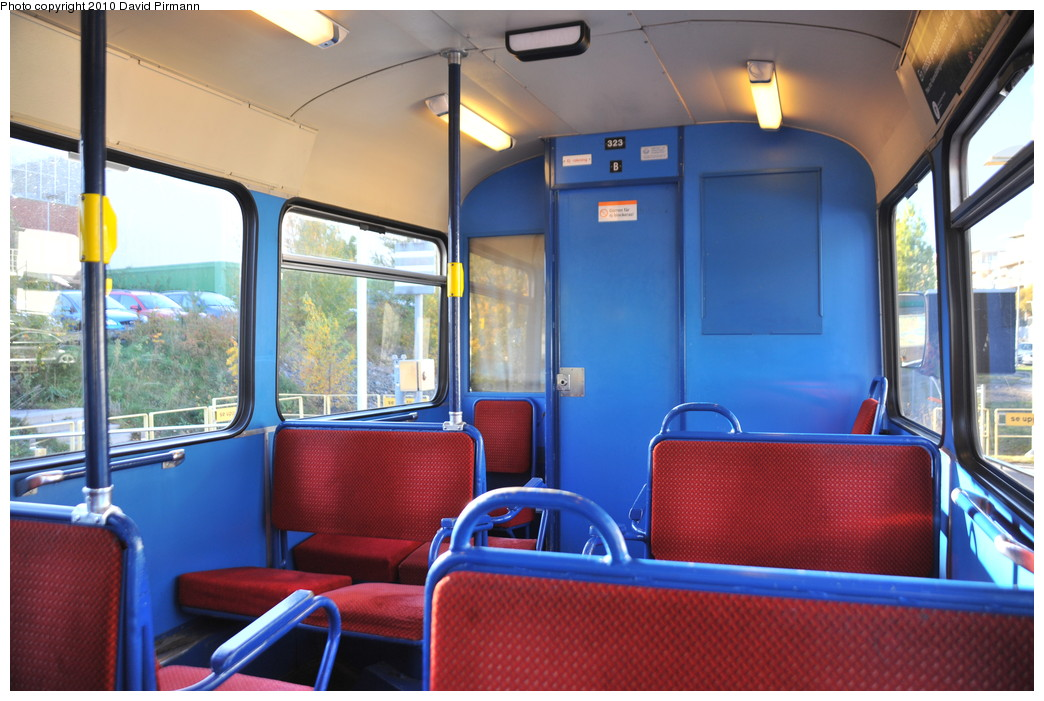 (258k, 1044x701)<br><b>Country:</b> Sweden<br><b>City:</b> Stockholm<br><b>System:</b> Storstockholms Lokaltrafik<br><b>Line:</b> Lidingöbanan<br><b>Location:</b> Gåshaga brygga<br><b>Car:</b>  323 <br><b>Photo by:</b> David Pirmann<br><b>Date:</b> 10/14/2010<br><b>Viewed (this week/total):</b> 5 / 781