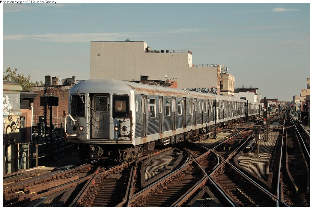 (264k, 1044x701)<br><b>Country:</b> United States<br><b>City:</b> New York<br><b>System:</b> New York City Transit<br><b>Line:</b> BMT Nassau Street-Jamaica Line<br><b>Location:</b> Myrtle Avenue<br><b>Route:</b> J<br><b>Car:</b> R-42 (St. Louis, 1969-1970) 4792 <br><b>Photo by:</b> John Dooley<br><b>Date:</b> 10/28/2010<br><b>Viewed (this week/total):</b> 0 / 1809