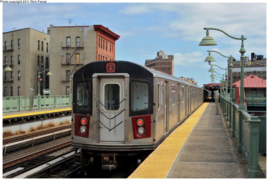 (265k, 1044x703)<br><b>Country:</b> United States<br><b>City:</b> New York<br><b>System:</b> New York City Transit<br><b>Line:</b> IRT White Plains Road Line<br><b>Location:</b> Simpson Street<br><b>Route:</b> 2<br><b>Car:</b> R-142 (Primary Order, Bombardier, 1999-2002) 6320 <br><b>Photo by:</b> Richard Panse<br><b>Date:</b> 9/11/2011<br><b>Viewed (this week/total):</b> 0 / 1636