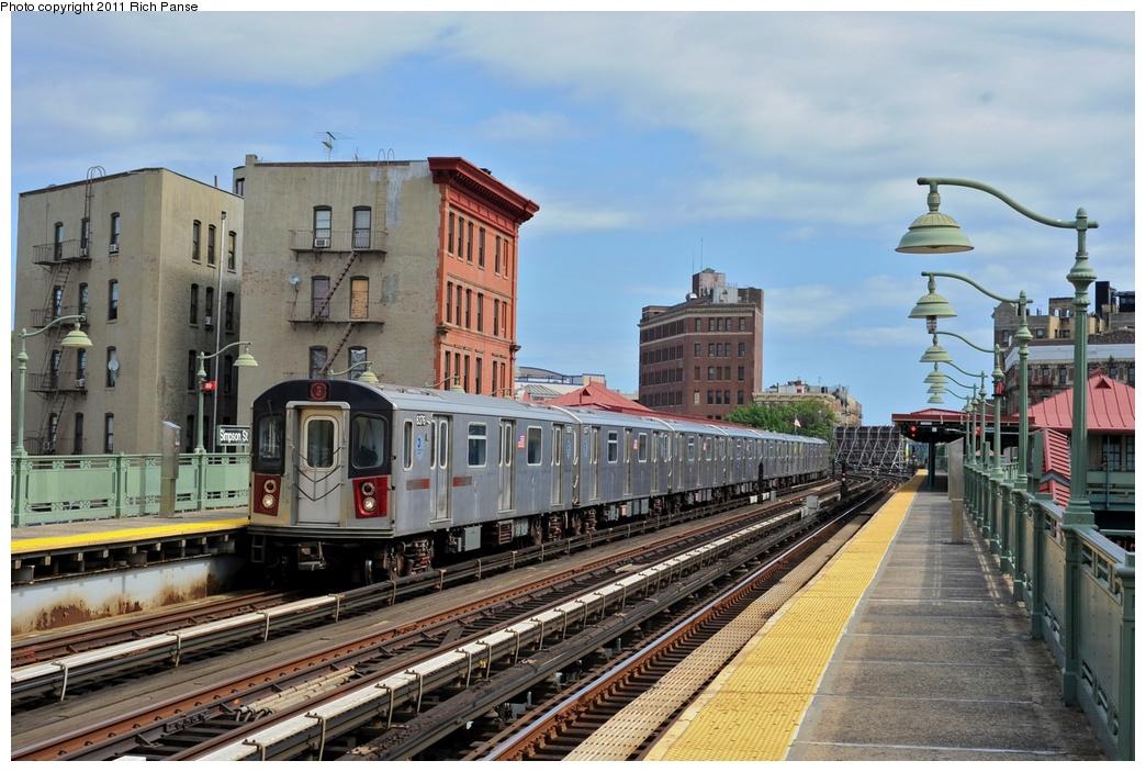 (288k, 1044x703)<br><b>Country:</b> United States<br><b>City:</b> New York<br><b>System:</b> New York City Transit<br><b>Line:</b> IRT White Plains Road Line<br><b>Location:</b> Simpson Street<br><b>Route:</b> 2<br><b>Car:</b> R-142 (Primary Order, Bombardier, 1999-2002) 6376 <br><b>Photo by:</b> Richard Panse<br><b>Date:</b> 9/11/2011<br><b>Viewed (this week/total):</b> 1 / 1516