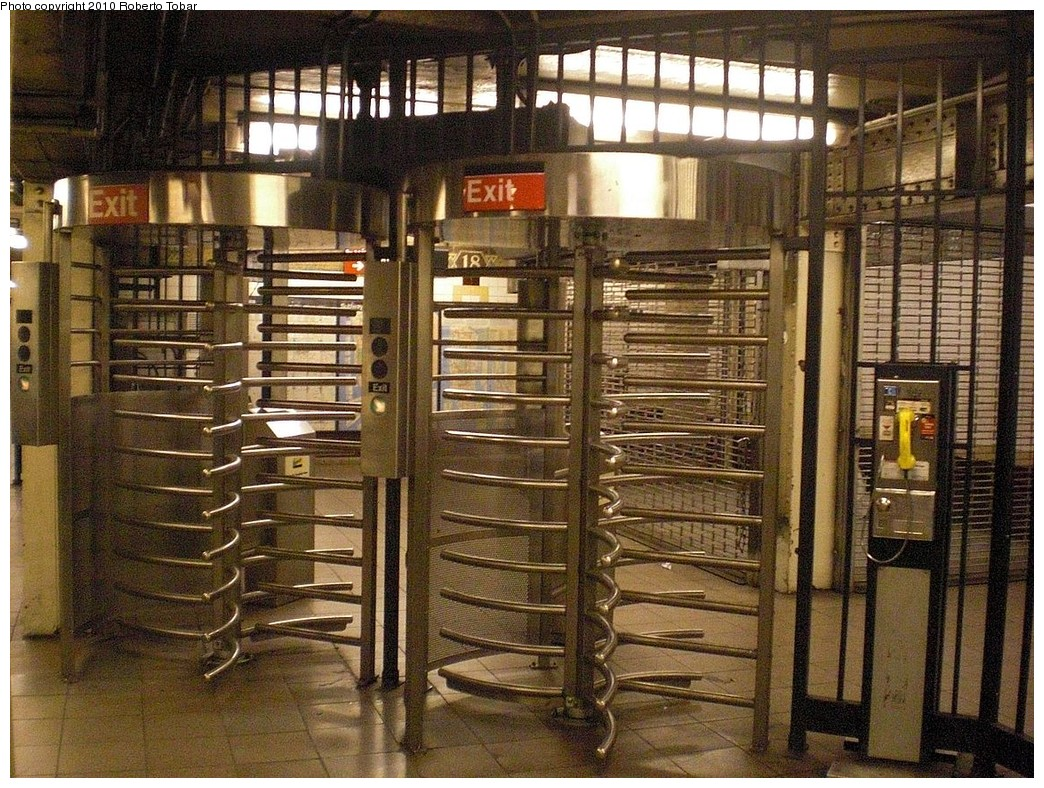 (350k, 1044x788)<br><b>Country:</b> United States<br><b>City:</b> New York<br><b>System:</b> New York City Transit<br><b>Line:</b> IRT West Side Line<br><b>Location:</b> 18th Street<br><b>Photo by:</b> Roberto C. Tobar<br><b>Date:</b> 10/17/2010<br><b>Viewed (this week/total):</b> 3 / 1644