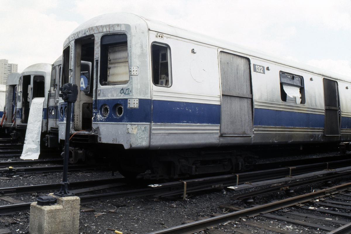 (426k, 1200x800)<br><b>Country:</b> United States<br><b>City:</b> New York<br><b>System:</b> New York City Transit<br><b>Location:</b> Coney Island Yard<br><b>Car:</b> R-44 (St. Louis, 1971-73) 132 <br><b>Collection of:</b> Collection of nycsubway.org<br><b>Notes:</b> 1980s<br><b>Viewed (this week/total):</b> 2 / 6453