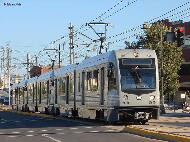 (186k, 800x600)<br><b>Country:</b> United States<br><b>City:</b> Los Angeles, CA<br><b>System:</b> Los Angeles County MTA<br><b>Line:</b> Metro Gold Line<br><b>Location:</b> <b>Little Tokyo/Arts District</b><br><b>Car:</b> P2550 (Ansaldo-Breda, 2005+) 713 <br><b>Photo by:</b> Salaam Allah<br><b>Date:</b> 11/15/2009<br><b>Viewed (this week/total):</b> 1 / 1683