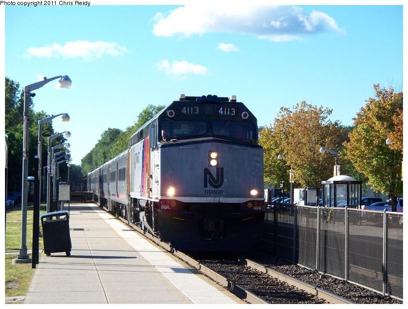 (166k, 820x620)<br><b>Country:</b> United States<br><b>System:</b> NJ Transit (or Predecessor)<br><b>Line:</b> NJT Main/Bergen Line<br><b>Location:</b> Ramsey<br><b>Car:</b> NJT F40PH-2CAT 4113 <br><b>Photo by:</b> Chris Reidy<br><b>Date:</b> 9/15/2010<br><b>Viewed (this week/total):</b> 0 / 744